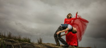 Dancers for Annette Carmichael's Light Shade of Red. Photo by Nic Duncan