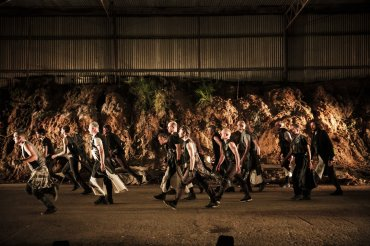 Dancers from The Beauty Index Denmark by choreographer Annette Carmichael. Image Nic Duncan
